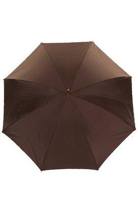 Зонт-трость с принтом и декором на ручке | Фото №1