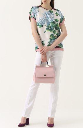 Сумка Sicily medium Dolce & Gabbana розовая цвета   Фото №2