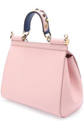 Сумка Sicily medium Dolce & Gabbana розовая цвета   Фото №3