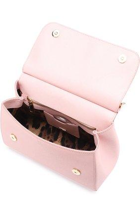 Сумка Sicily medium Dolce & Gabbana розовая цвета   Фото №4