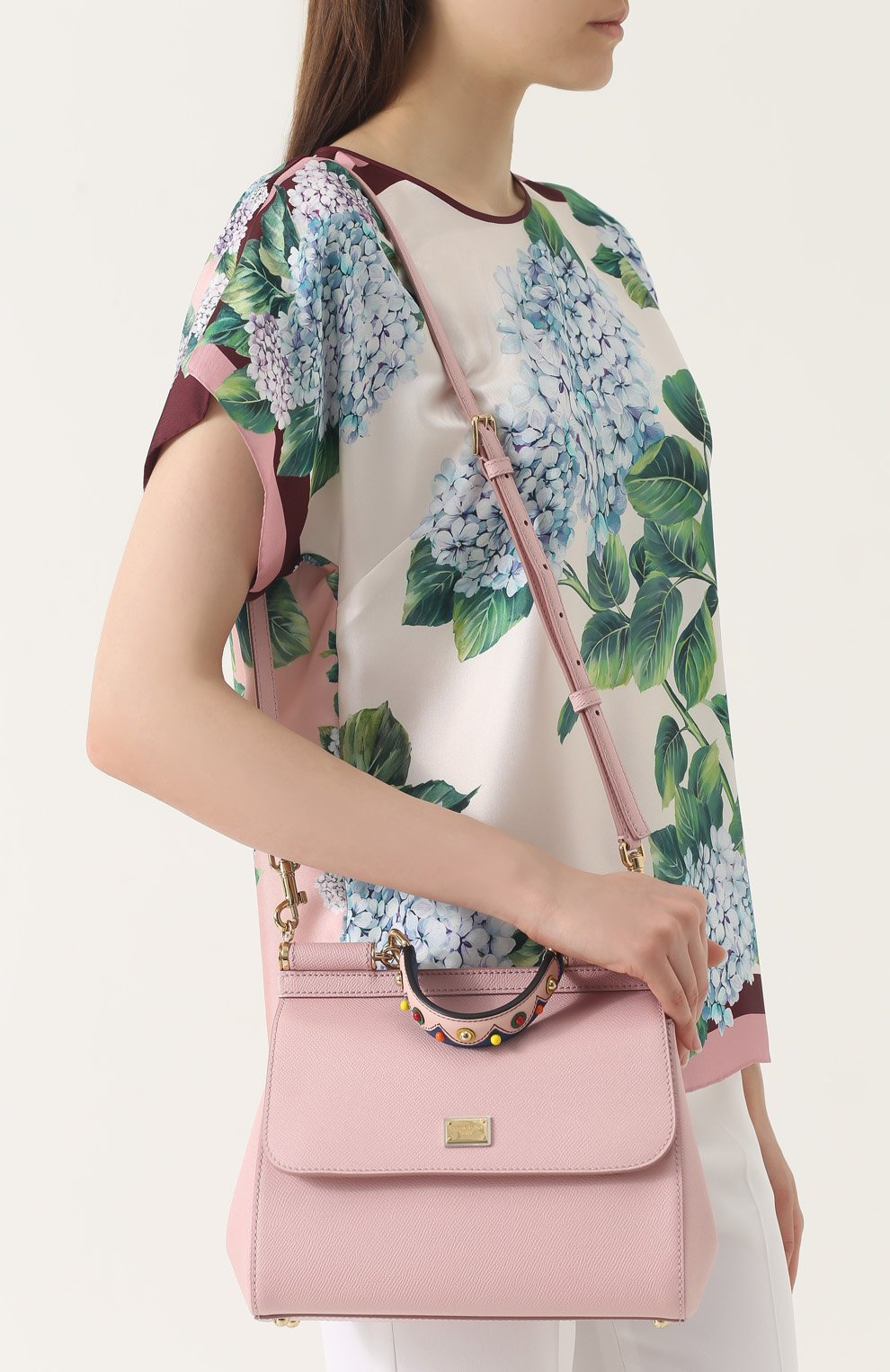 Сумка Sicily medium Dolce & Gabbana розовая цвета   Фото №5
