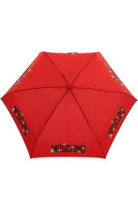 Складной зонт с принтом и брелоком | Фото №1