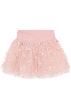 Мини-юбка с вышивкой и широким поясом | Фото №2