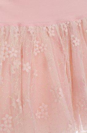 Мини-юбка с вышивкой и широким поясом | Фото №3