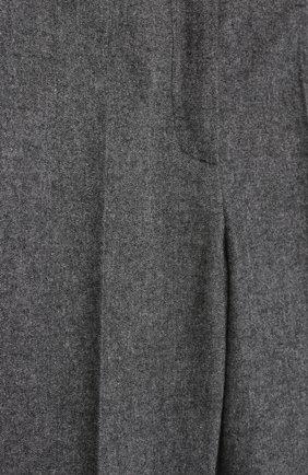 Детские хлопковые брюки прямого кроя Dolce & Gabbana серого цвета   Фото №3