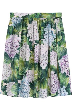 Хлопковая юбка с цветочным принтом | Фото №1