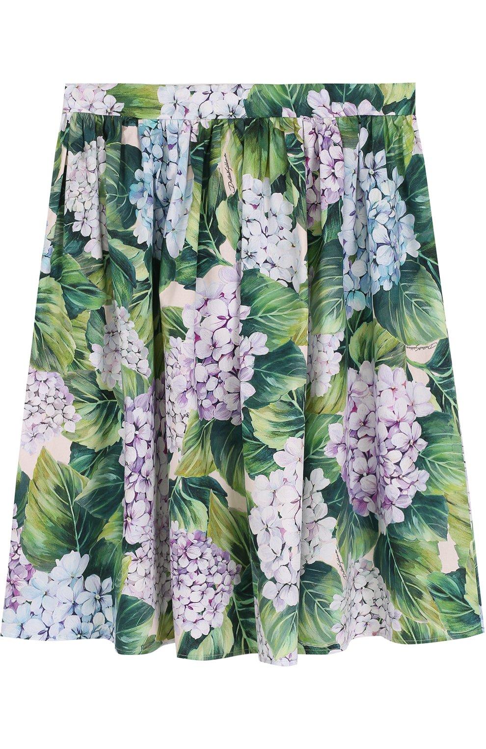 Хлопковая юбка с цветочным принтом | Фото №2