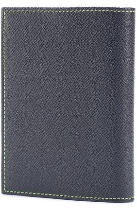 Кожаная обложка для паспорта Dolce & Gabbana темно-синего цвета | Фото №2