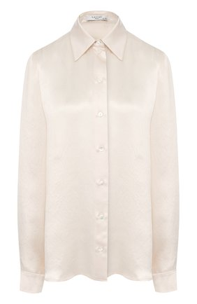 Атласная блуза прямого кроя   Фото №1