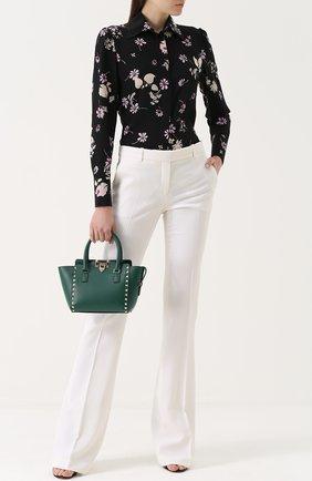 Шелковая блуза с цветочным принтом | Фото №2