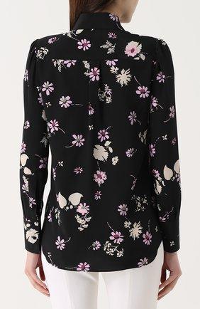 Шелковая блуза с цветочным принтом | Фото №4