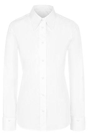 Хлопковая блуза прямого кроя