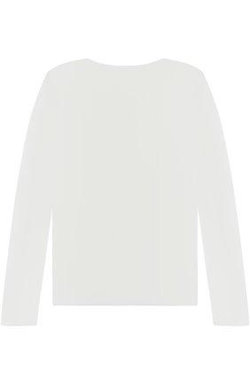 Однотонный лонгслив с логотипом бренда | Фото №2