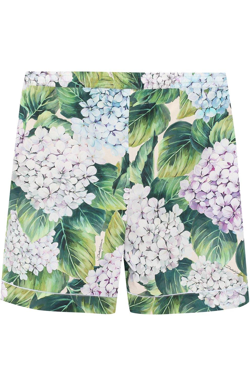 Хлопковые мини-шорты с цветочным принтом | Фото №1