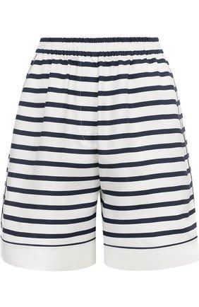 Шелковые мини-шорты в полоску Dolce & Gabbana синие | Фото №1