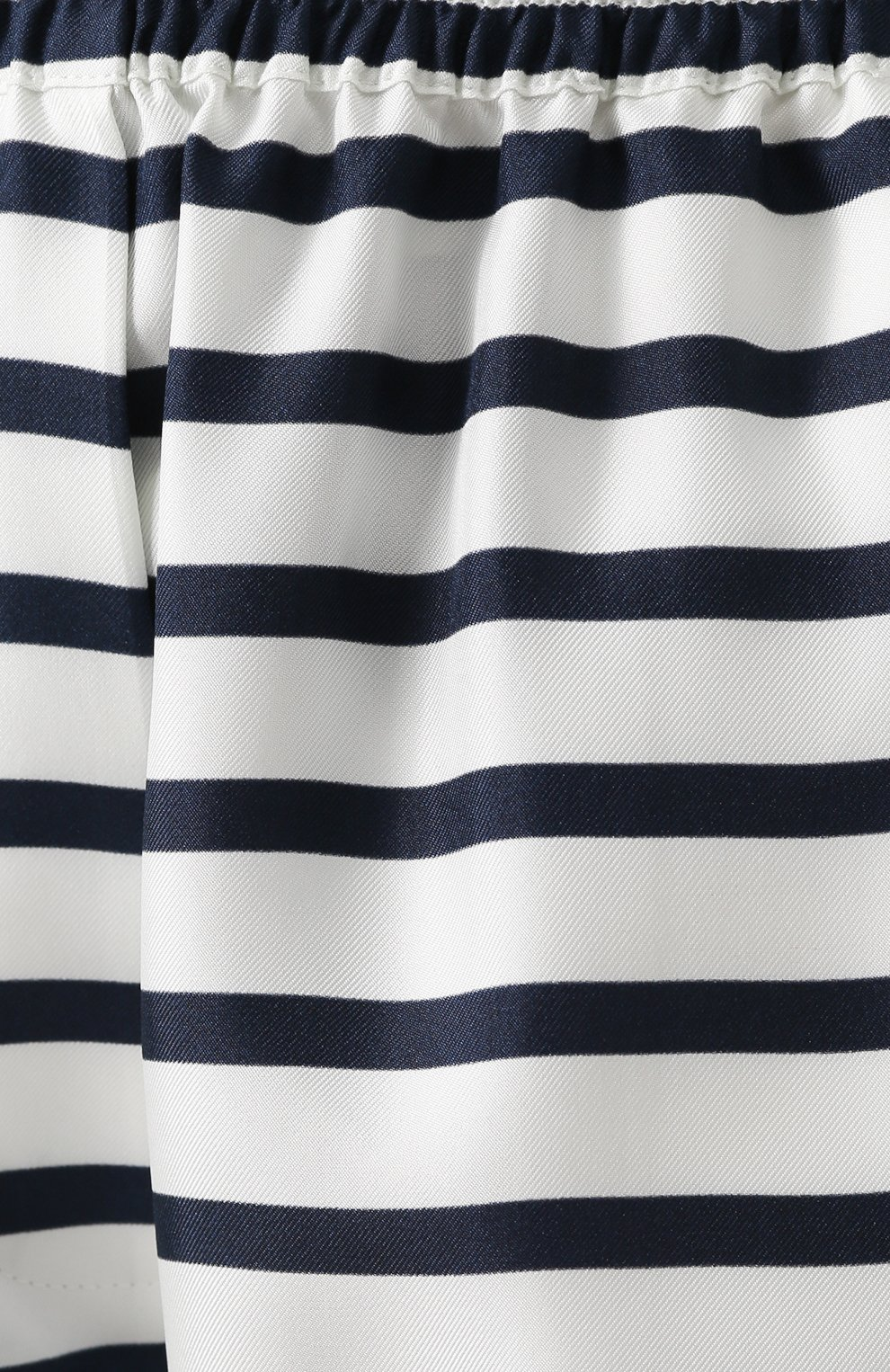 Шелковые мини-шорты в полоску Dolce & Gabbana синие | Фото №5
