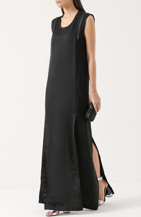 Платье-макси прямого кроя с разрезами Ilaria Nistri красное | Фото №1