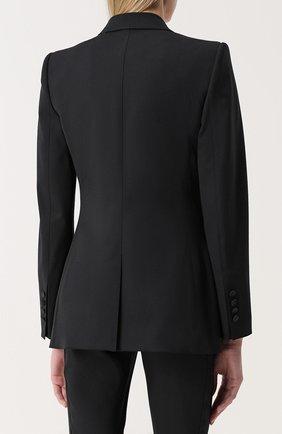 Приталенный жакет с остроконечными контрастными лацканами Dolce & Gabbana черный | Фото №4