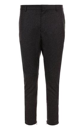 Укороченные брюки прямого кроя из смеси шерсти и кашемира