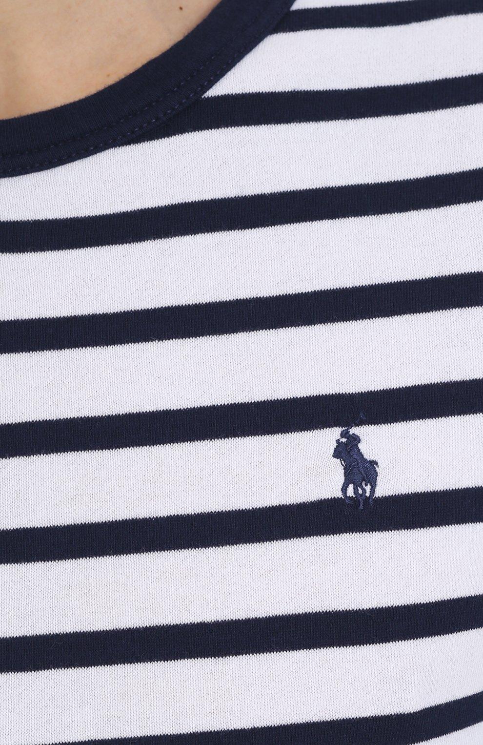 Хлопковый джемпер в контрастную полоску | Фото №5