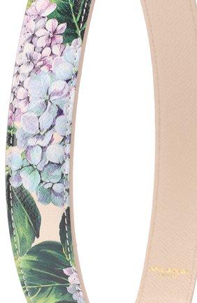 Кожаный ремень для сумки с цветочным принтом Dolce & Gabbana кремвого цвета | Фото №2