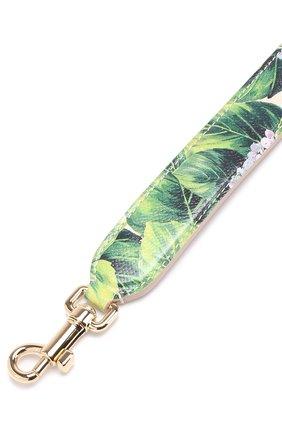 Кожаный ремень для сумки с цветочным принтом Dolce & Gabbana кремвого цвета | Фото №3