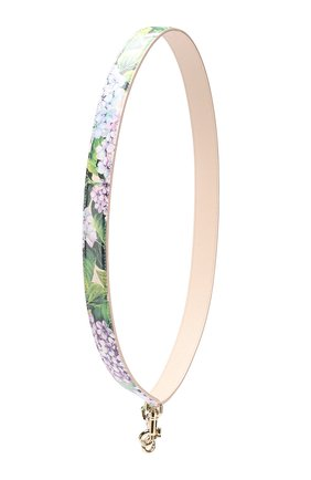 Кожаный ремень для сумки с цветочным принтом Dolce & Gabbana разноцветного цвета | Фото №1
