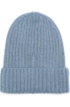 Женская вязаная шапка TAK.ORI светло-голубого цвета, арт. AC043 MW018PF17 | Фото 2 (Материал: Шерсть, Синтетический материал, Текстиль; Статус проверки: Проверена категория)