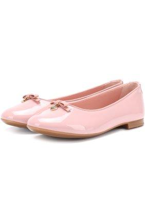 Детские лаковые балетки Dolce & Gabbana розового цвета | Фото №1