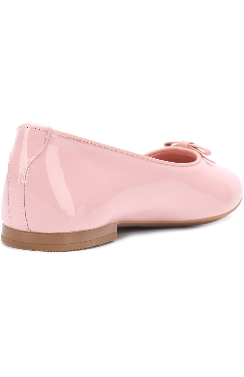 Детские лаковые балетки Dolce & Gabbana розового цвета | Фото №3