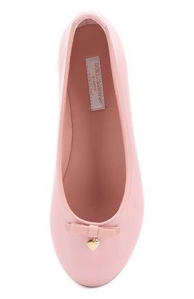 Детские лаковые балетки Dolce & Gabbana розового цвета | Фото №4