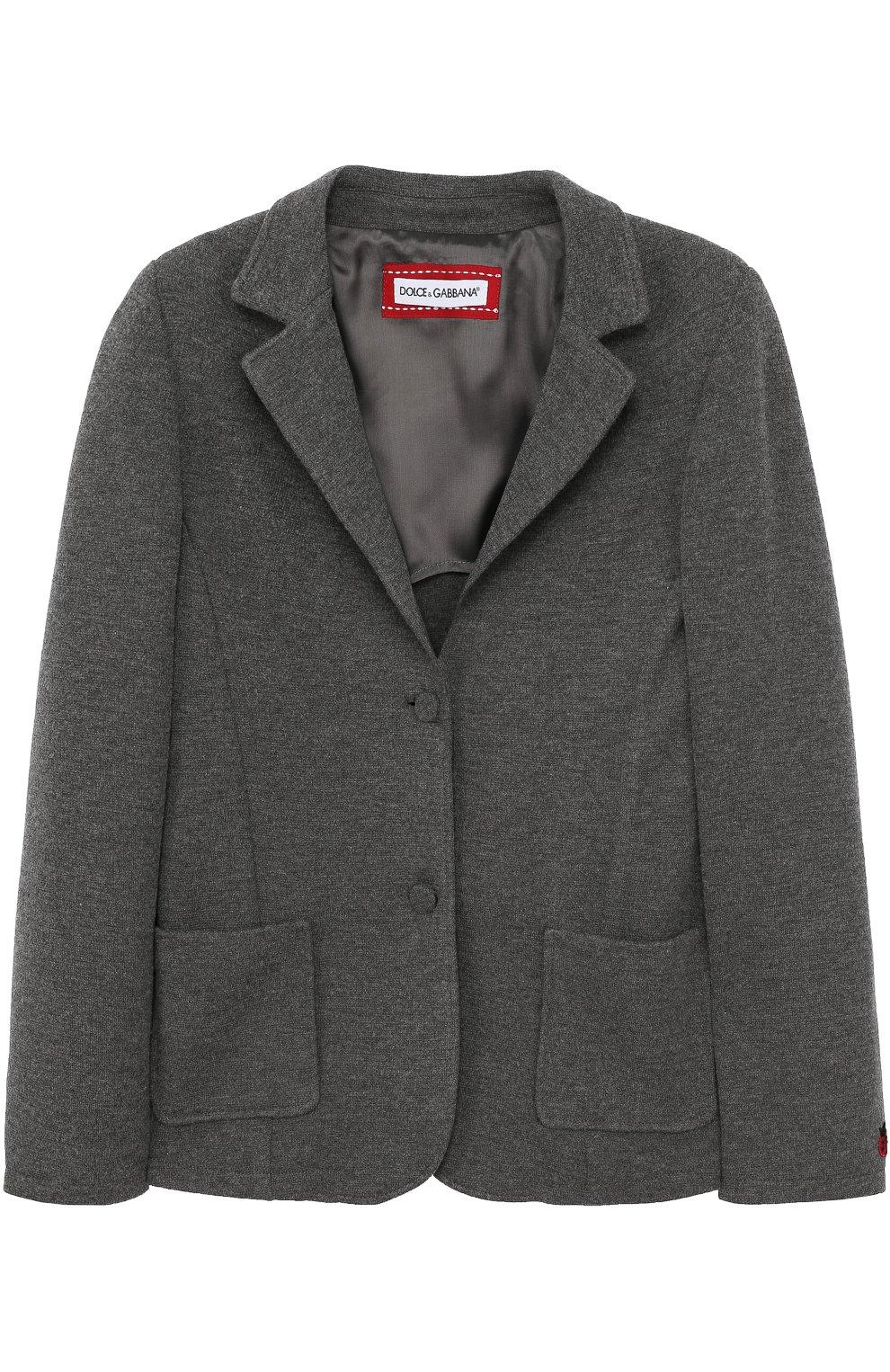 Однобортный пиджак из смеси шерсти и вискозы   Фото №1