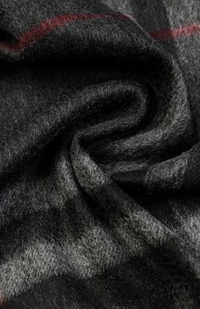 Мужской кашемировый шарф BURBERRY темно-серого цвета, арт. 3913731 | Фото 2