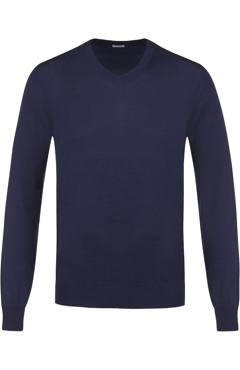 Хлопковый пуловер тонкой вязки   Фото №1