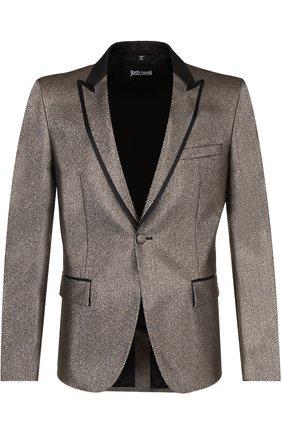 Приталенный пиджак с остроконечными лацканами | Фото №1
