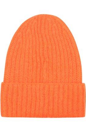 Вязаная шапка Tak.Ori оранжевого цвета | Фото №1