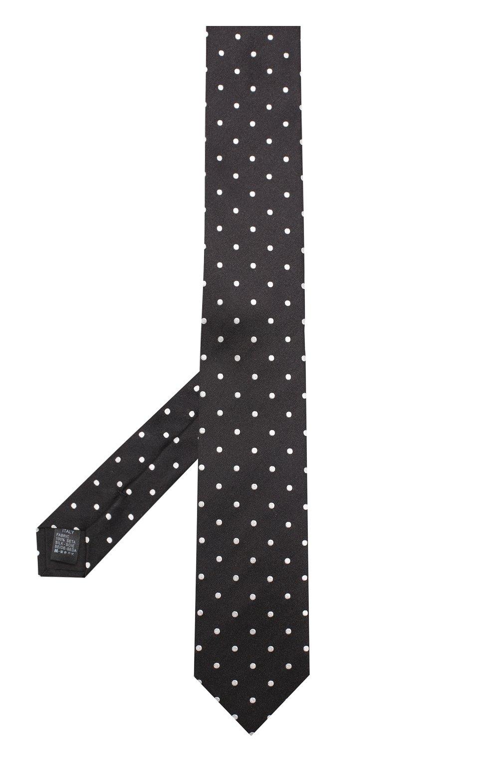 Шелковый галстук Dolce & Gabbana черного цвета   Фото №2