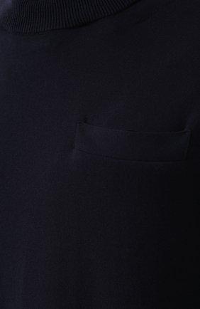 Хлопковый джемпер с декоративной вставкой на спине | Фото №5