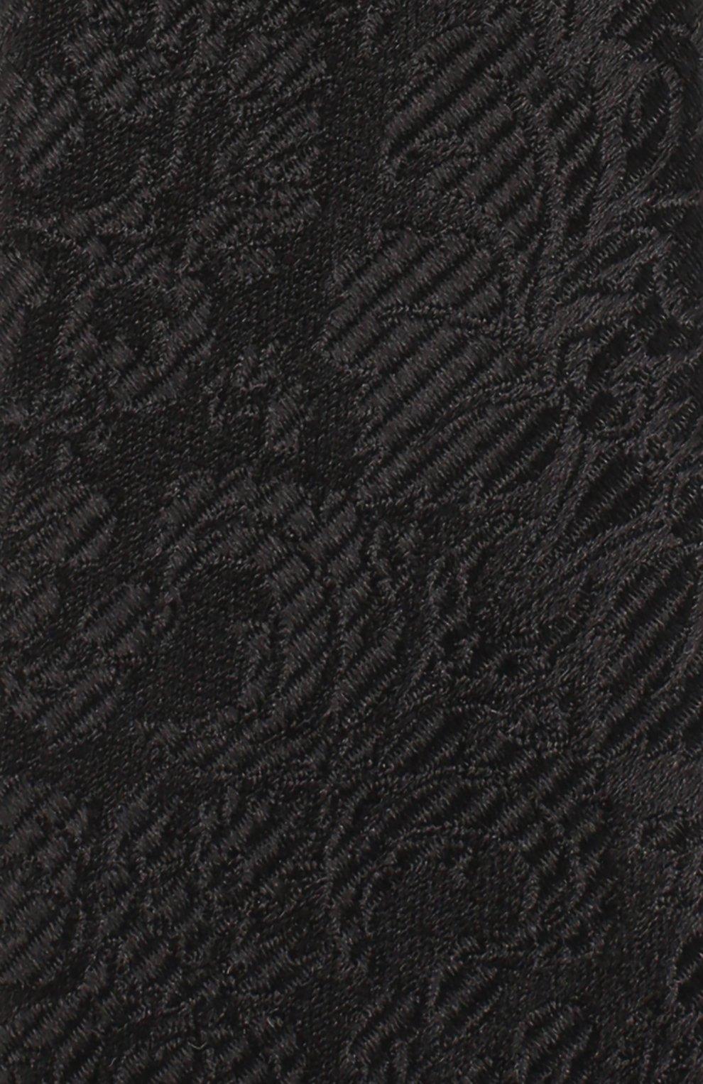 Шелковый галстук с узором Dolce & Gabbana черного цвета | Фото №3