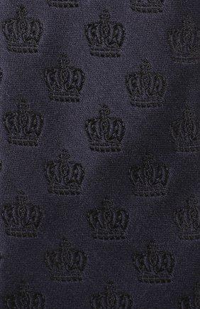 Шелковый галстук с узором Dolce & Gabbana темно-синего цвета   Фото №3