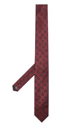 Шелковый галстук с узором Dolce & Gabbana бордового цвета | Фото №2