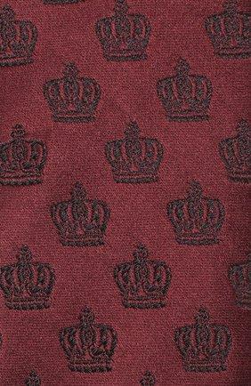 Шелковый галстук с узором Dolce & Gabbana бордового цвета | Фото №3