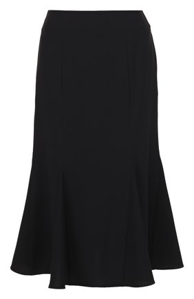 Расклешенная юбка-миди с карманами | Фото №1