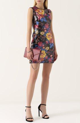 Приталенное мини-платье с пайетками Diane Von Furstenberg черное   Фото №1