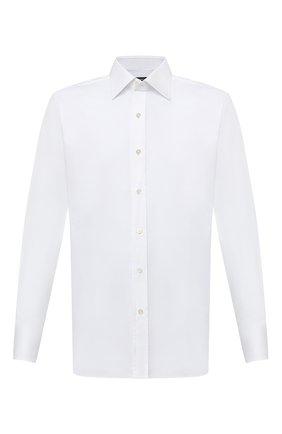 Мужская хлопковая сорочка TOM FORD белого цвета, арт. 2FT190/94C1JE | Фото 1