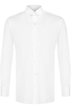 Мужская хлопковая сорочка с булавкой на воротнике TOM FORD белого цвета, арт. 2FT000/94S3JA | Фото 1