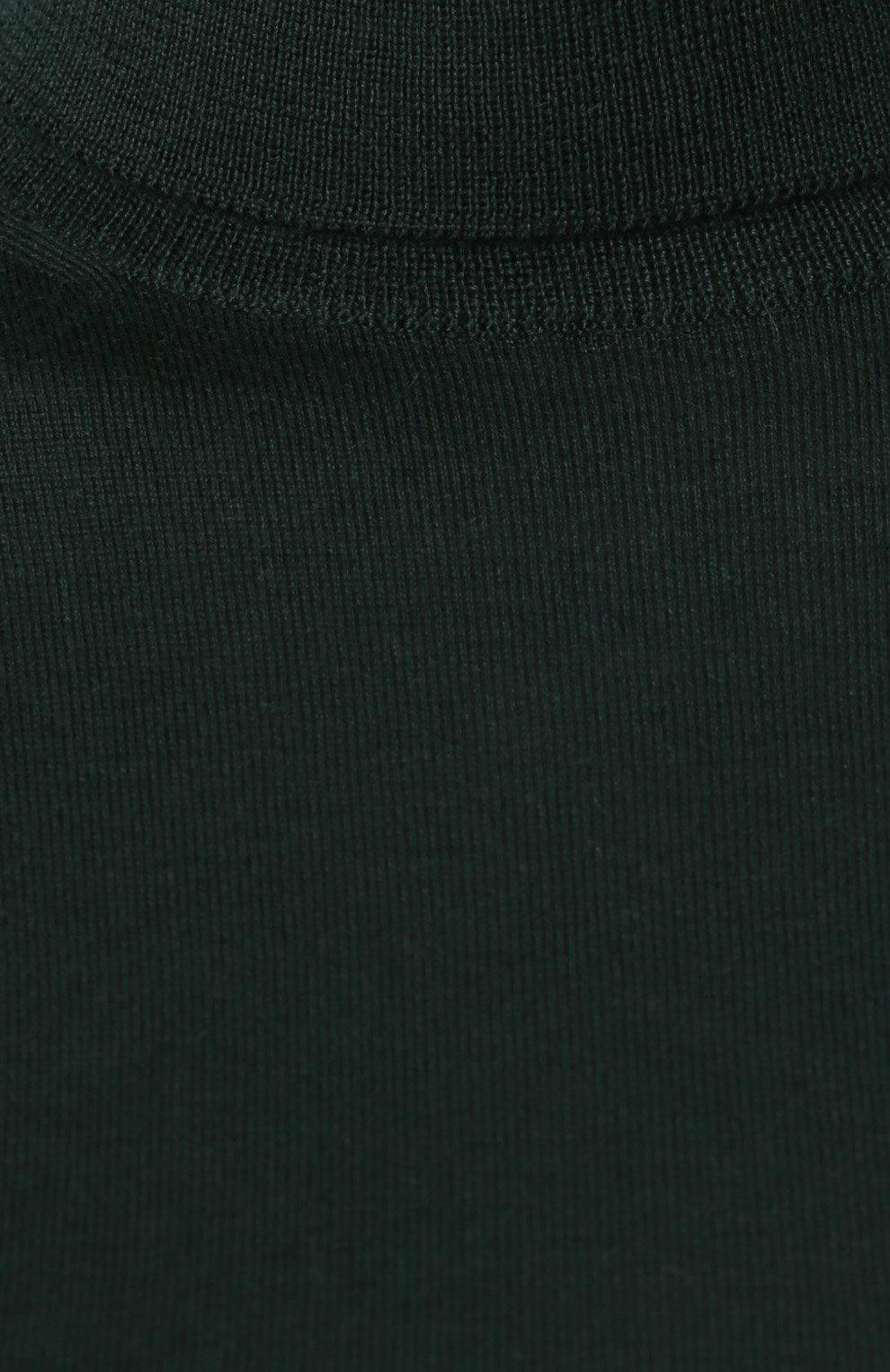Женская кашемировая водолазка RALPH LAUREN темно-зеленого цвета, арт. 290615195 | Фото 5