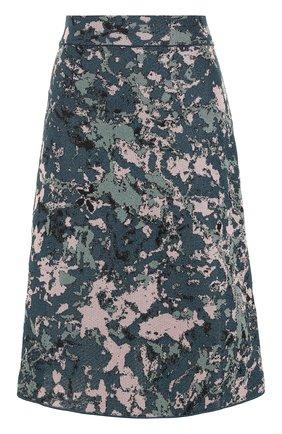 Вязаная юбка-миди с принтом | Фото №1