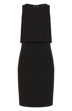 Приталенное платье-миди с кейпом | Фото №1