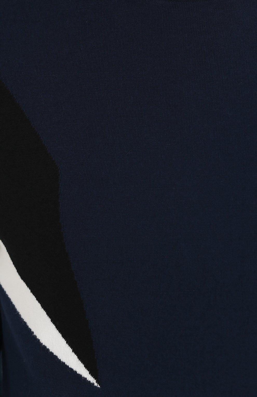 Хлопковый джемпер с контрастной отделкой | Фото №5